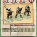 Dust Tactics Karten: Allies Infanterie