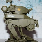 "Bilder und Basteltipps des Medium Assault Walker ""Hot Dog, Steel Rain Pounder und Mickey"" für Dust Tactics"